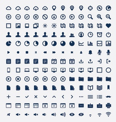 set universal icons vector image