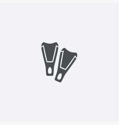 simple flippers icon vector image