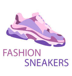 sneaker shoe consept flat design sneakers in vector image