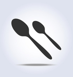 spoons cutlery icon flat in gray color vector image