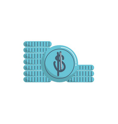 stacked coins currency money business financial vector image