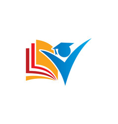 Student education logo vector