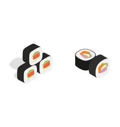 sushi icon set isometric style vector image