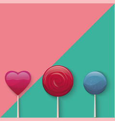Sweet lollypop vector