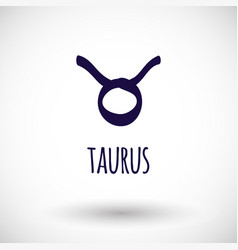 taurus zodiac sign icon vector image