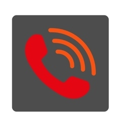 Telephone Call Rounded Square Button vector