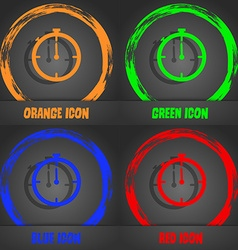 Timer sign icon Stopwatch symbol Fashionable vector
