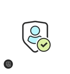 User authentication pictograph sign line vector