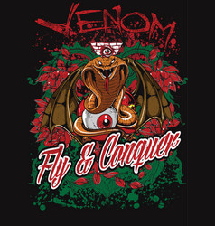 Venom fly and conquer vector