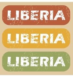 Vintage Liberia stamp set vector