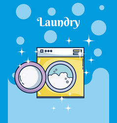 Washer machine laundry vector