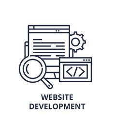 website development line icon concept website vector image