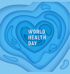 world health day medical banner on 3d abstract vector image