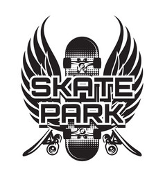 a theme skateboarding with vector image