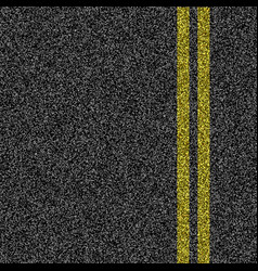 asphalt road with double yellow marking line vector image