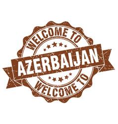 azerbaijan round ribbon seal vector image vector image