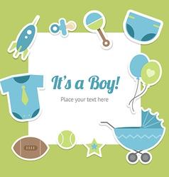 Baby boy shower design vector image vector image