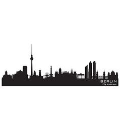Berlin Germany skyline Detailed silhouette vector image