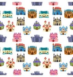 Castle cartoon set vector