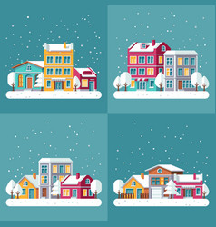 Christmas winter holiday backgrounds set vector