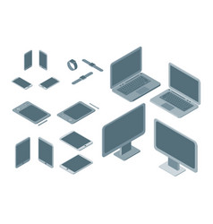 technology devices set isometric view vector image