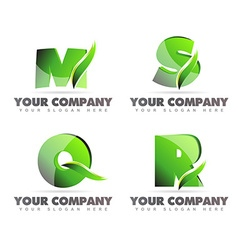 Alphabet letters logo icons vector image