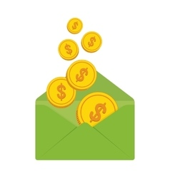 envelope with money vector image vector image