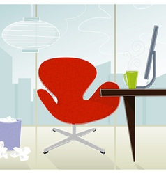 retro-modern office vector image