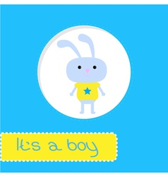 Baby shower card with bunny Its a boy vector image vector image