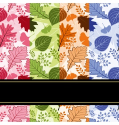 Colorful four season leaves vector image