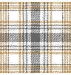 Gold platinum checkered plaid seamless pattern vector