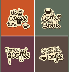 set of four banners on the theme of coffee vector image
