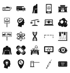 staff icons set simple style vector image vector image