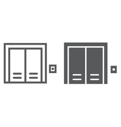 elevator line and glyph icon real estate and home vector image