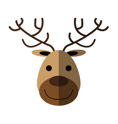 face of happy deer icon image vector image