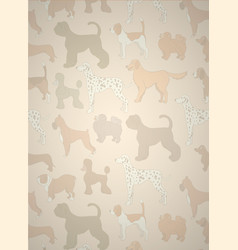 greeting card with unusual pattern with cute vector image