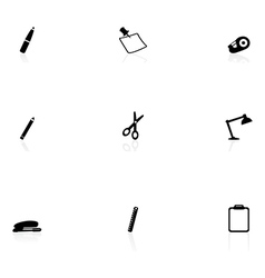 Office supplie icons vector image vector image