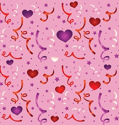 seamless love pattern with confetti - vector image