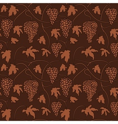 Wine grapes Seamless pattern vector image vector image