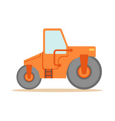 asphalt finisher road machine part of roadworks vector image