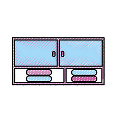 Bathroom modular furniture towels other vector