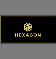 bc hexagon logo vector image
