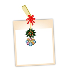 Blank Photos with Christmas Bauble vector