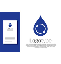 Blue recycle clean aqua icon isolated on white vector