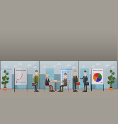 business conference meeting concept flat vector image