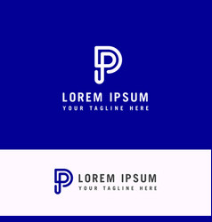 capital letter p template for emblem logos vector image
