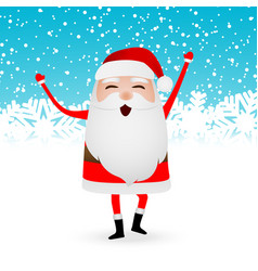 cartoon funny santa claus dancing vector image