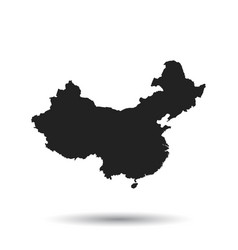 china map flat on black background vector image