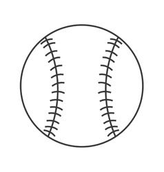 Classic baseball icon vector