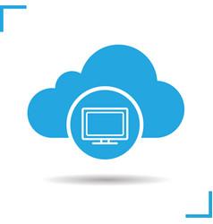 cloud storage television icon vector image